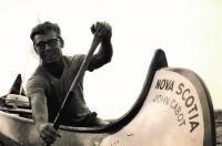 Miloš v kanoi Nova Scotia, závody 1971