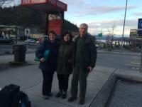 Miloš, jeho žena Tanya a autorka příběhu, Vancouver, 2016