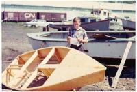 Loďařský oddíl v Canal St, Dartmouth, jaro 1963