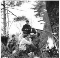 Miloš - kempování s kamarády, 1964