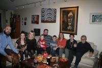 Dr Skála s rodinami synů Petra a Martina, Vancouver, 2016