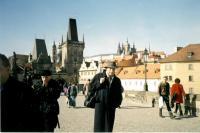 Jan Drábek na Karlově mostě (2001)