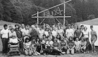 Čtvrtý katolický esperantský tábor v Herborticích v roce 1972