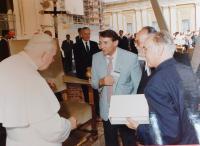 Miloslav Šváček s Janem Pavlem II.