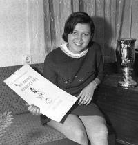 Miss prvního katolicko eperanstského tábora v Herborticích v roce 1969 Ludmila Kunertová