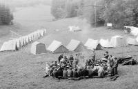 Pátý  katolický esperantský tábor v Herborticích v roce 1974