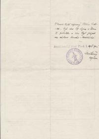 Rodný list Viléma Lederera, zadní strana: doplněk o křtu v římsko-katolické církvi