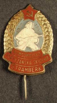 odznak partyzánské skupiny Štramberk