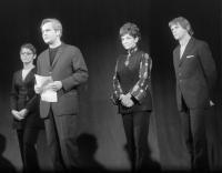 In the University Theatre: Zoltán latinovits, Mária Ronyecz, Tamás Fodor and Mariann Csernus, 1972