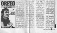 """""""Hungarian Yourh"""" article about Orfeo Stúdió, 1972"""