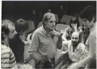 Rehearsal, Fényes szelek,  Huszonötödik Színház, 1971. (Iglódi István, Berek Kati, Jancsó Miklós, Jobba Gabi, Szigeti Károly és Gáspár Zsuzsa)
