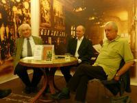 Sándor Radnóti, Miklós Fogarassy and Kornél Vajda in the Writers Bookstore, 2010