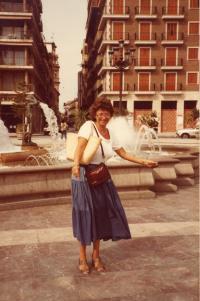 Agnes Erdelyi, holiday in Spain, 1982