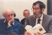 Vilmos Sós and György Petri at the George Markus 60th anniversary conference, 1994