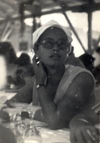 Agnes Erdely at the Bulgarian coast, 1976