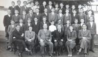 Měšťanská škola v Novém Městě nad Váhom. Třetí ročník: 1939 - 1940, který navštěvoval i Pavel Bednár