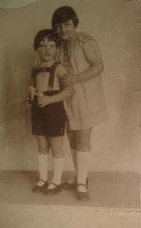 Edita s bratrem Petrem