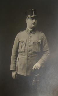 Otec Edity Kosinové v armádě Rakousko-Uherska