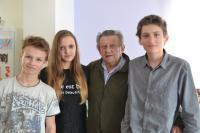 Děti ze ZŠ Libina s panem Zahradníkem