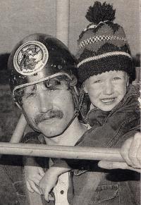 1988 Josef Hlavatý se synem v Rakousku