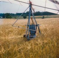 Opuštěné rogalo po přistání v Rakousku 1988