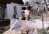Stavba rogala 1987, Josef Hlavatý s otcem Josefem