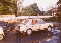 1988 k hranicím s rogalem, před emigrací