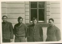 ukrývaní Kosťa+Jaška+Nikolaj+Anatol, obec Březina u Hořepníka (duben 1945)