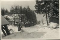 Hájovna OBORA 1956 cesta od východu