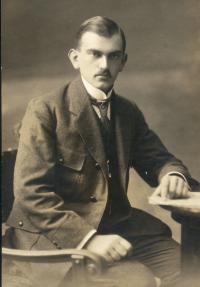 Osvald Rerych jako lesní adjunkt (20.léta)