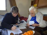 Edita Březinová/Edith Rosen v lednu 2015 s Jitkou Radkovičovou