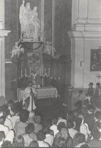1970 - Působení v bazilice sv. Petra a Pavla v Brně I.