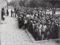 Protestní shromáždění žáků a učitelů proti okupaci 1968