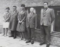 Protestní shromáždění žáků a učitelů proti okupaci 1968 - učitelský sbor