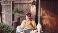 1980 - Petr Esterka při odpolední siestě