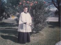 """1964 - Petr Esterka v Texasu: """"Zde jsem v rochetce. Je to mezi farou a kostelem"""""""