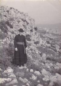 1967 - Petr Esterka na procházce za Římem, druhá studijní cesta