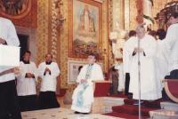 1988 - Petr Esterka na poutním místě na Svatém Hostýně (srpen)