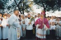 1999 - slavnost v rodné obci Dolní Bojanovice po biskupském svěcení, Petr Esterka vítán v rodné obci