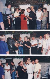 1999 - setkání s krajany v Dolních Bojanovicích u příležitosti biskupského svěcení Petra Esterky