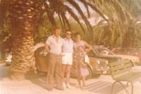 1978 - Split, bývalá Jugoslávie, na společné dovolené se sestrou Anežkou a švagrem