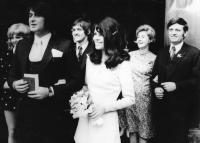 Prokop Michal – Nina Prokopová, svatební foto 1972