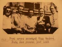 Poslanec Josef Lesák s poslankyní Miladou Horákovou