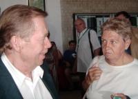 19 - S prezidentem Václavem Havlem v Uherském Hradišti v červenci 2007