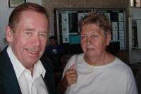 20 - with the president Vaclav Havel in Uherske Hradiste in July 2007