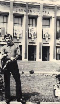 János Kokes, student University Bukurest, 1974