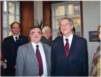 János Kokes s maďarským prezidentem Laszlo Solyomem v Praze, 2006
