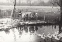 Mastířovice, děti u rybníka