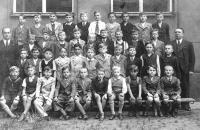 Třetí třída obecné školy v Plzni, 1937