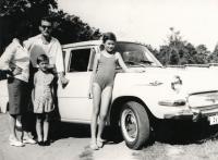 S rodinou v Plzni, 1966
